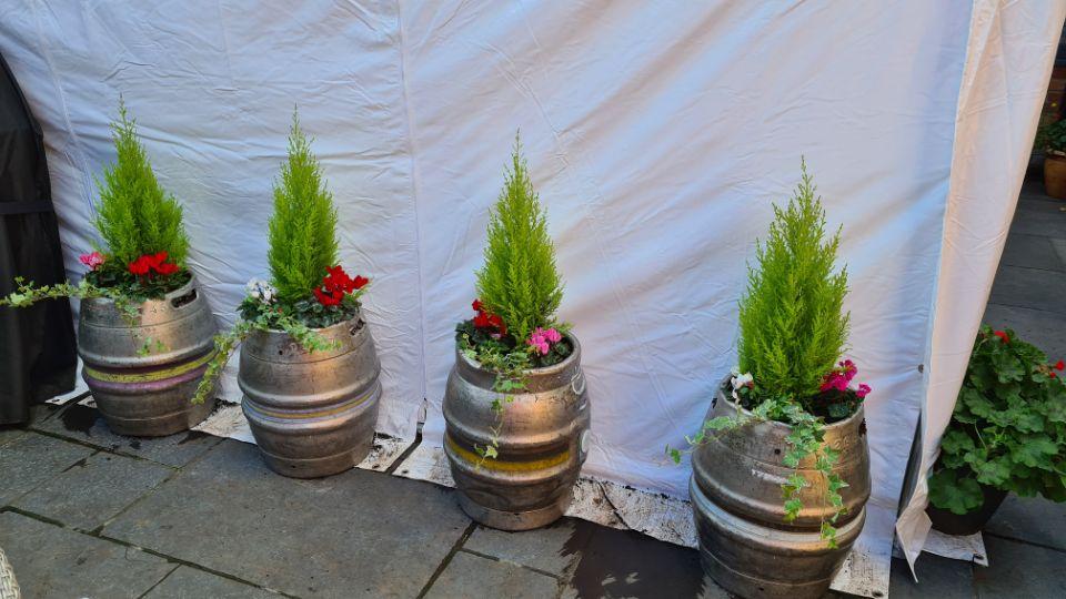 Beer Barrel Planters