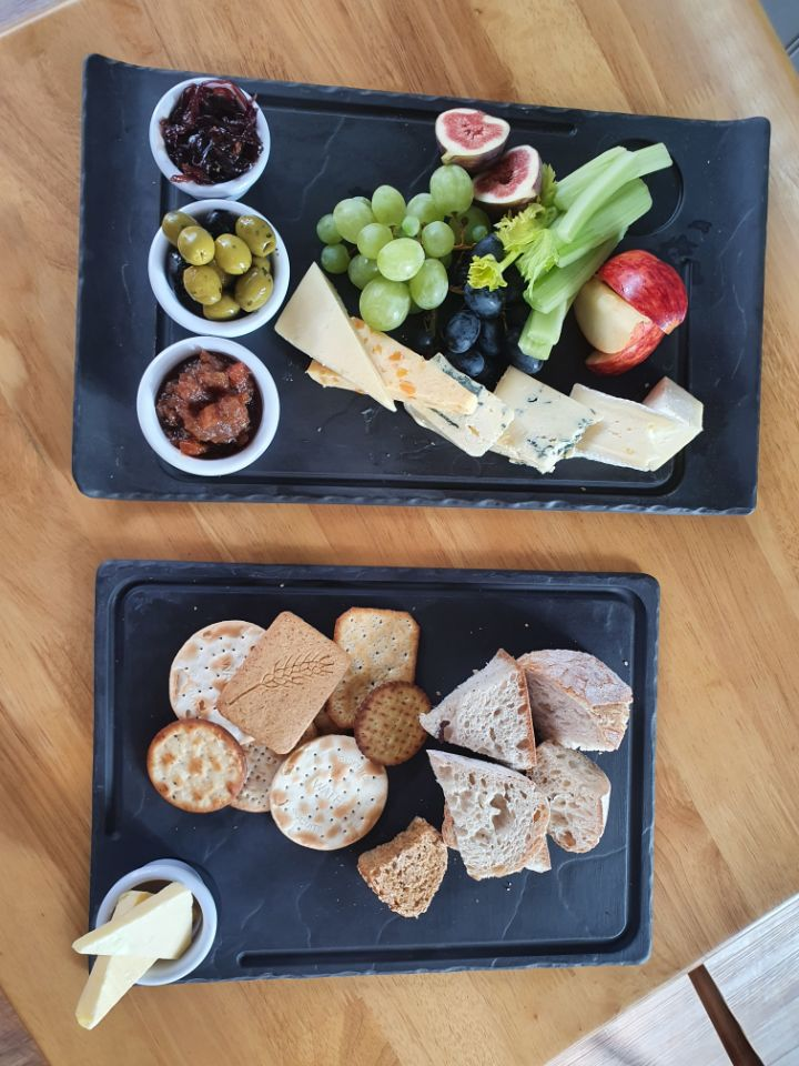 Cheese Platter, Bread and Biscuits