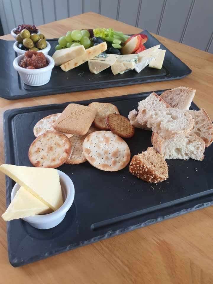 Cheese Platter with Bread and Biscuits