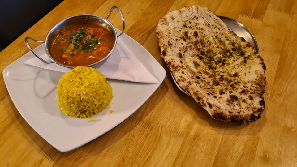 Chicken Tikka Masala with Pilau Rice and Naan