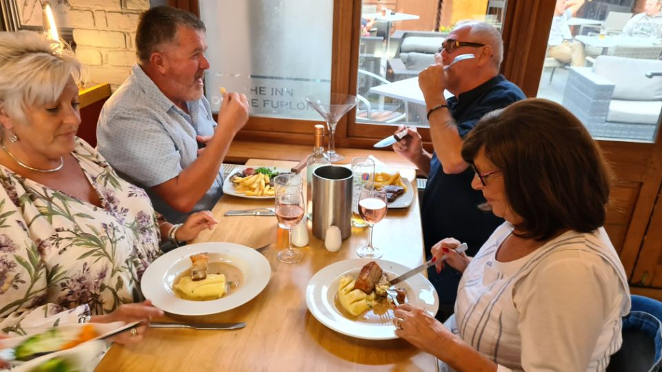 Guests enjoying a meal