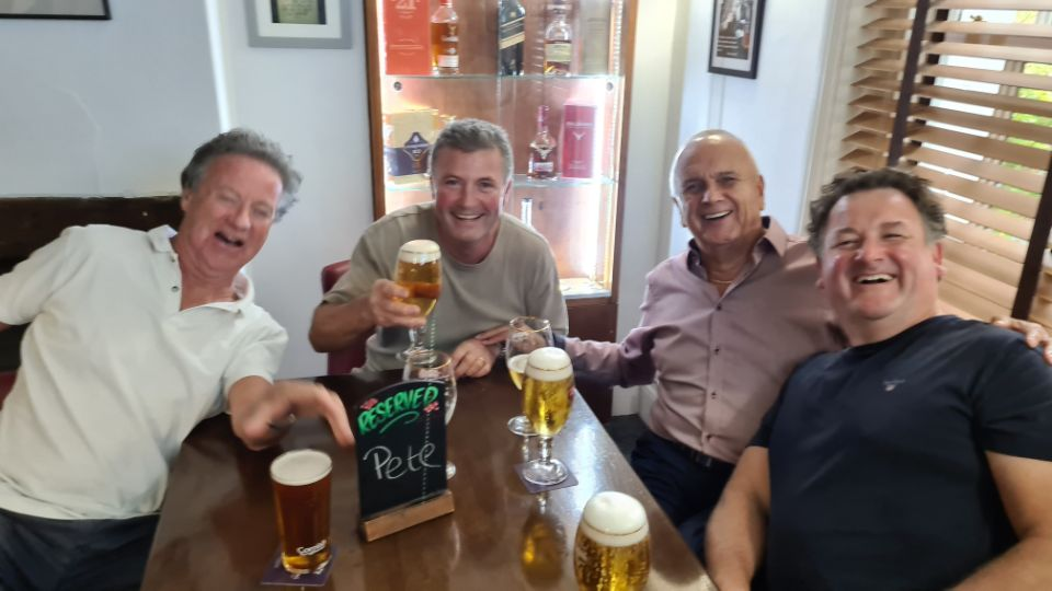 Guests enjoying a pint