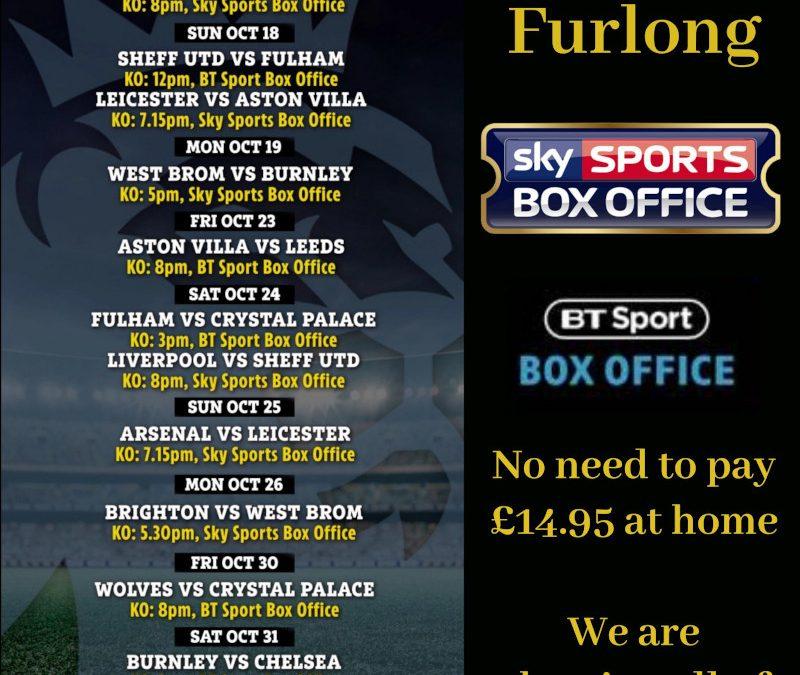 Premier League PPV Box Office Matches