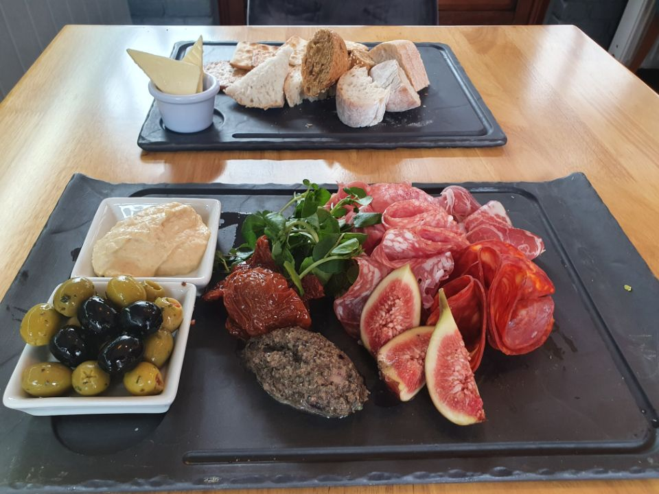 Mediterranean Platter with Olives and Hummus
