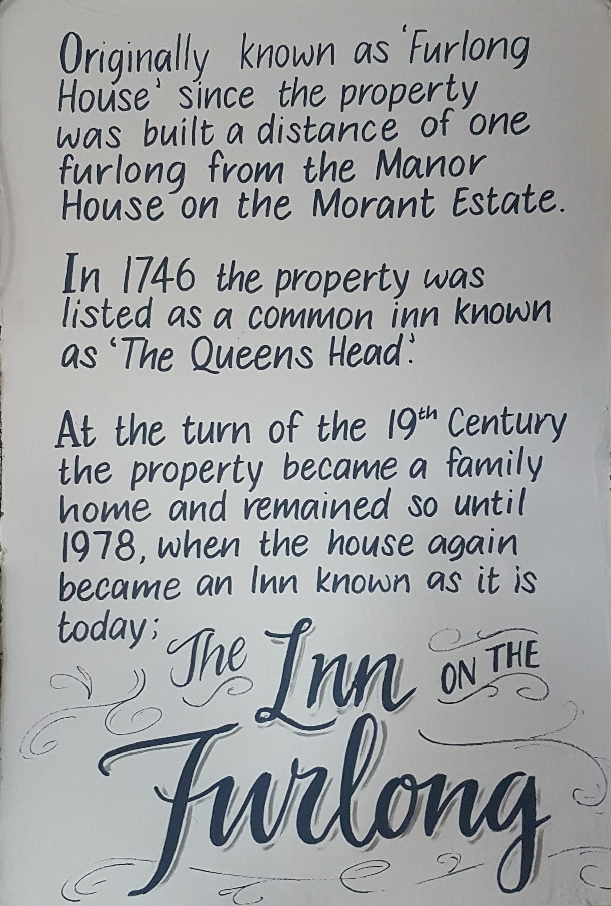 about the Inn on the Furlong